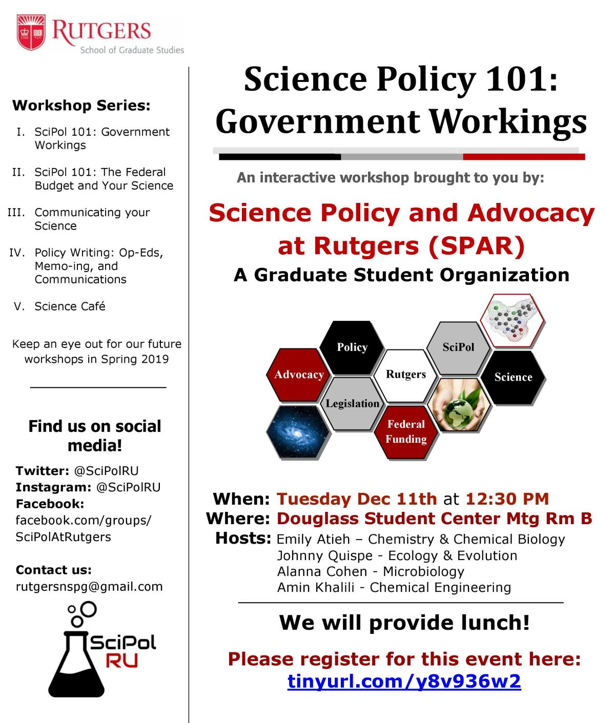 SciPol 101 Workshop: GovernmentWorkings