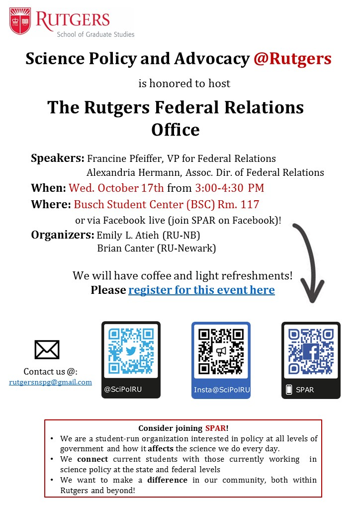 Visit with the Rutgers Federal RelationsOffice