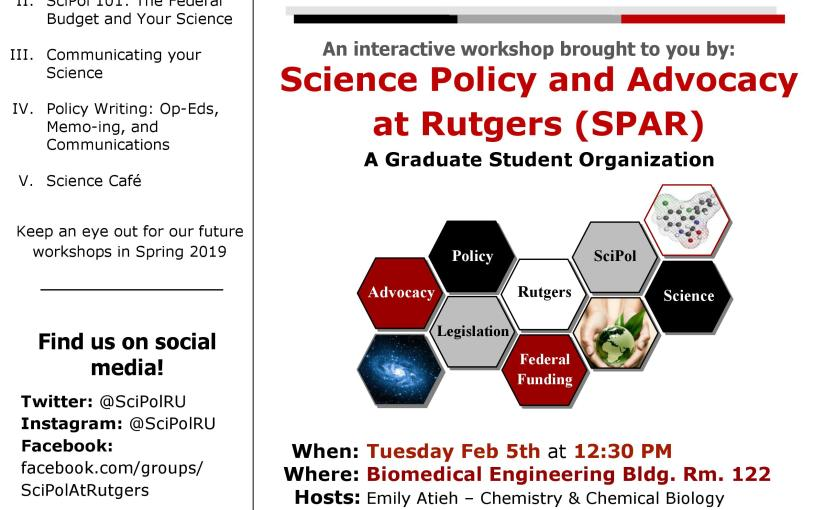SciPol 101 Workshop: The Federal Budget and Your Science