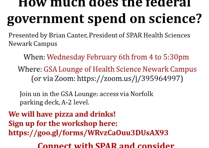 SciPol 101 Workshop: How Much Does the Federal Government Spend on Science?