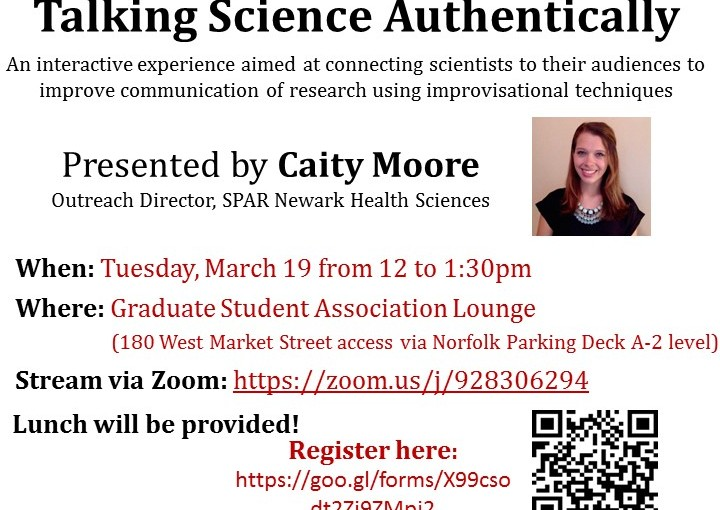 SciComm 101 Workshop: Be Yourself, Talking Science Authentically