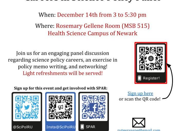 Careers in Science Policy Panel