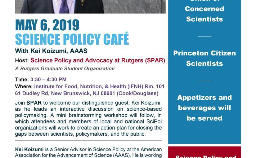 Science Policy Café – With KeiKoizumi