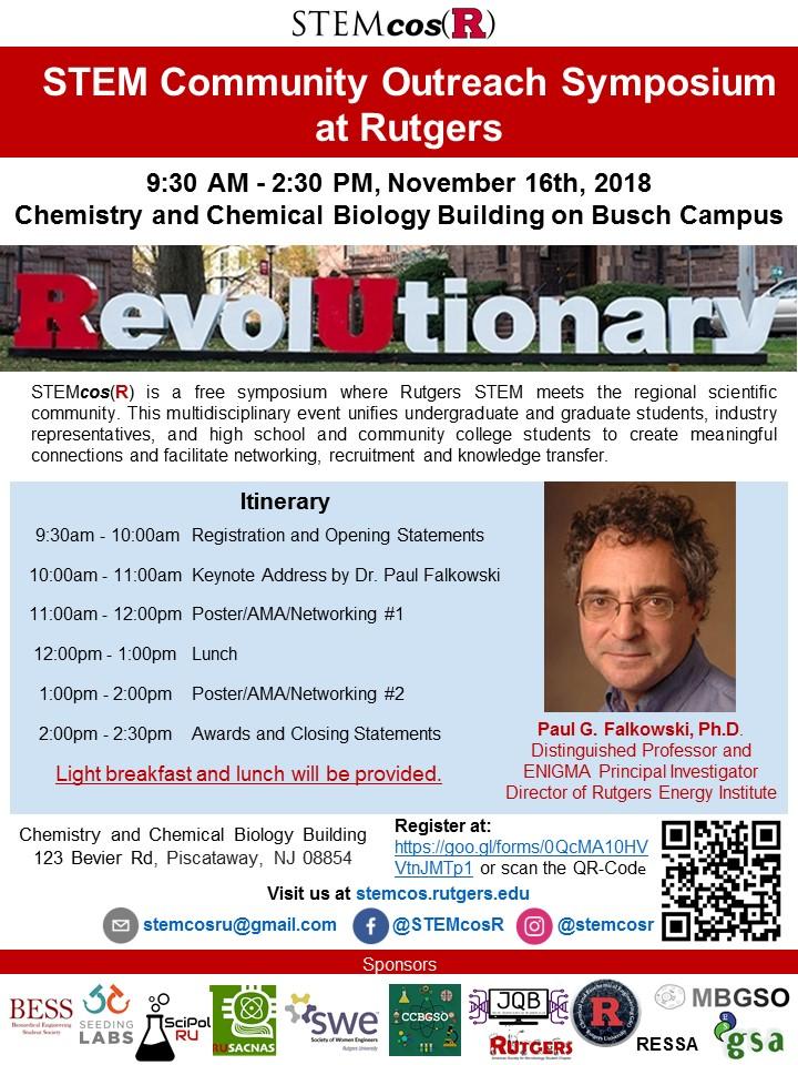 STEM Community Outreach Symposium at Rutgers(STEMcosR)