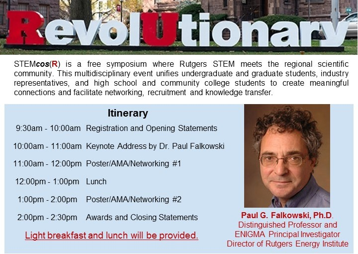 STEM Community Outreach Symposium at Rutgers (STEMcosR)