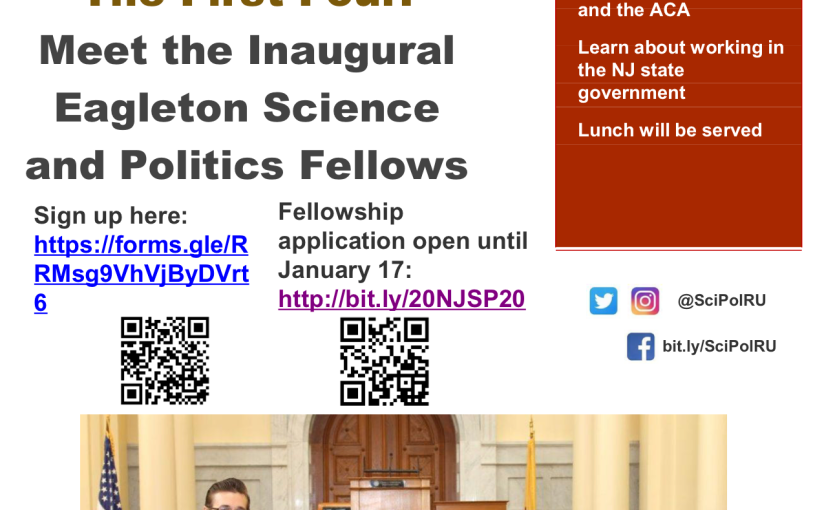 The First Four: Meet the Inaugural Eagleton Science and PoliticsFellows