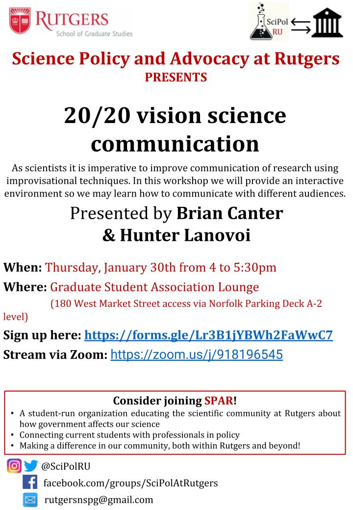 20/20 vision science communication