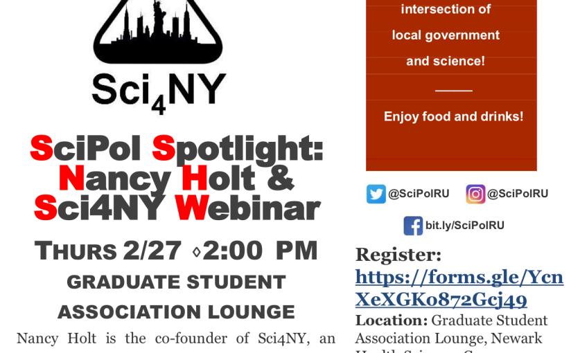 SciPol Spotlight: Nancy Holt & Sci4NYWebinar