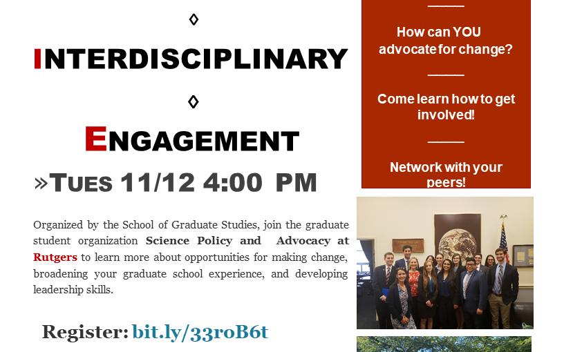 Fall 2019 Community, Interdisciplinary, & EngagementEvent